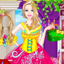 Barbie princess makeup and dress up games